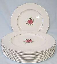Johnson Bros Snowhite Regency Center Rose Dinner Plate set of 8