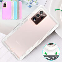 For Samsung S21 S20 Note 20 Ultra Note 10Plus Clear Case Hybrid Shockproof Cover