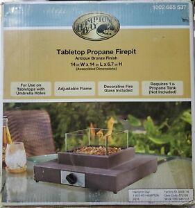 Tabletop Propane Firepit