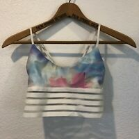 Cute Booty Lounge Size Small Pastel Candy Cloude Lifestyle Scoop Sports Bra
