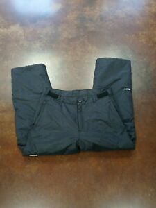 Ski Gear Mens XL Winter Snow Pants Black Elastic Ankle Zip Pockets