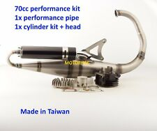 70cc CYLINDER KIT & EXHAUST FOR YAMAHA 50cc BWS 50 MK1 CW50 Vertical engine