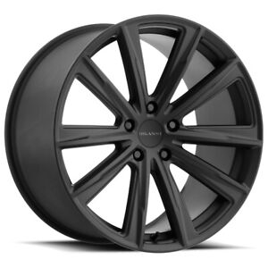 "Milanni 471 Splinter 22x9 5x120 +35mm Satin Black Wheel Rim 22"" Inch"