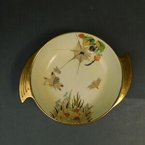 Carlton Ware Spider's Hand Painted Butterflies Dish Bowl Spider Flowers RTG/LH