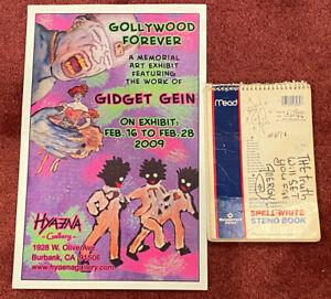 Gidget Gein Original Hand drawn artwork-  Poetry Notebook & Poster. Circa 1996