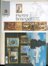 Belgium* Pieter Bruegel,Rene Magritte Art Painting Souvenir Sheet,S, Mnh
