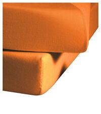 Fleuresse Mako-Jersey-Spannlaken Jenny C  Orange Größe 90x200 und 100x200 cm