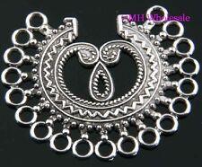 2PCS Tibetan silver pendants earring connectors findings Drop Earrings 47X39MM