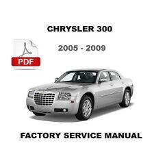 CHRYSLER 300 2005 - 2009 OEM ALL WHEEL DRIVE AWD SERVICE WORKSHOP REPAIR MANUAL