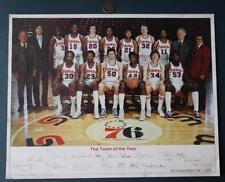 "1976 Philadelphia 76ers ""autograph"" team photo-McGinnis-Dawkins-Free-Cunningham!"