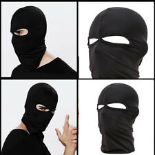Outdoor Motorcycle Black Full Face Mask Balaclava Ski Neck Protection Black U
