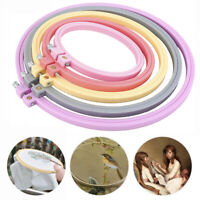 7-25cm Plastic Cross Stitch Machine Embroidery Round Hoop Ring DIY Sewing Frame.