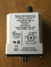 Macromatic Time Delay Relay TR-51621-12, 3 to 300 sec, 10A or 1/2 HP at 240VAC