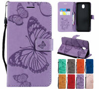 For Samsung J3 J5 J7 Pro 2017 Wallet Flip PU Leather Card Slots Stand Case Cover
