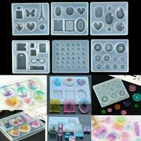 DIY Silicone Resin Mold letter/Gem/Buttons Mould Pendant Craft Jewelry B6Q0