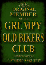 Grumpy Old Bikers Club Retro Repro Metal Decor  Sign