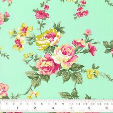 Cotton Fabric FQ Romantic Floral Vintage Retro Print Dress Quilting Crafts VK121