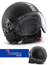 Casco Jet MOMO Fighter Nero opaco Decal Argento varie Taglie XL
