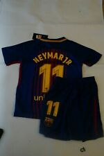 Barcelona Neymar Jr Kid Jersey : Shirt and Short. New with Tag Size 20 Age 3 - 5