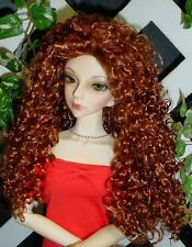 """Doll Wig, Monique Gold """"Mallory"""" Size 6/7 in Double Red - Amazing Flip Wig!"""