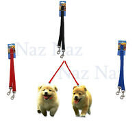 Double Ended 2 Dogs Lead 2 Way Reflective Nylon Training Lead