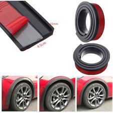 2pcs 1.5M Black Widen Car Fender Flare Wheel Eyebrow Rubber Trim Protector Strip