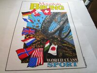 Vintage Mountain Biking World Class Sport Iron On Transfer Tee Shirt Art 1993
