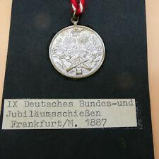ABZEICHEN MEDAILLE SCHÜTZEN 1887 FRANKFURT IX BUNDES + JUBILÄUMSSCHIESSEN