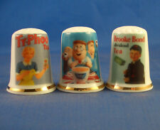Birchcroft Thimbles -- Set of Three -- Vintage Advertising Posters -- Tea