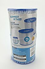 Summer Waves Type D Filter Cartridge - Pack Of Two - New - Free Shipping