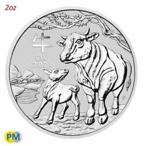 2021 Perth Mint Lunar Year of the Ox 2oz Silver Bullion Coin