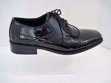 Giorgio Brutini Mens Black Patent Faux Leather Square Toe Formal Lace Up Shoe 8M