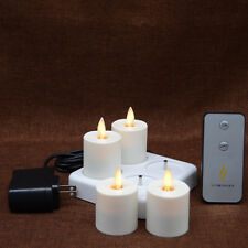 Luminara Rechargeable Moving Wick Flameless Votive Tealight LED Candle For Party