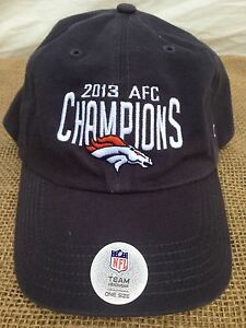 NFL 47 Team Apparel 2013 AFC Champions Denver Broncos Navy Blue Baseball Cap nwt