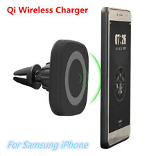 Qi Wireless Car Charger Magnetic Air Vent Mount Dash Holder for iPhone Samsung