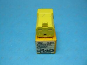 Hubbell HBL5669VY Valise Female Connector NEMA 6-15R 2P/3W 250 VAC Yellow New