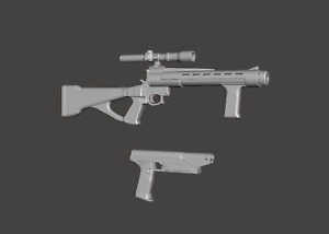 Star Wars The Mandalorian Custom 3.75 Death Watch rifle & pistol for Hasbro TVC