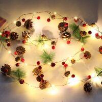 20 LED Tannenzapfen Stern Drahtlichterkette Batterie Weihnachtsbeleuchtung Deko