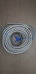 25m HellermannTyton Spiralschlauch silber/grau, Art. 161-64303