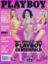 Playboy July 2002 Who Wants To Be A Playboy Centerfold    DH