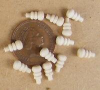 6 Wooden Door Knobs - Handles Dolls House Miniature 1:12 Scale Accessories 799