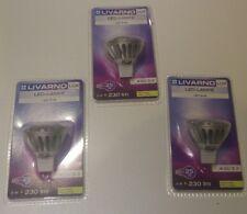 3 x Livarnolux Led Lamp Bulbs GU 5.3 5w->25w energy A.