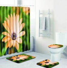 Daisy Blossom Shower Curtain Elegant Natural Wild Flower Rugs Carpet Bath Decor