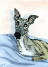 DOGS GREYHOUND WHIPPET LURCHER PAINTING 2594 DIANNE HEAP DOG BED SOFA ART PRINT