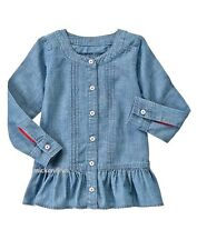 NWT Gymboree Girls 100% Cotton Chambray Tunic Long Sleeve Size  10