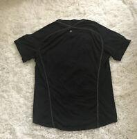 Lululemon Men's Black Reflective short sleeve breathable comfort tee size ???