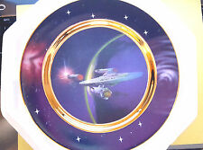 Star Trek Hamilton Collector Plate: Warp Speed: Ships in Motion, 1997 Rare Mib