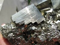 PYRITE BRILLIANT CUBIC CRYSTALS on MATRIX from PERU..........MASTER PYRITE PIECE
