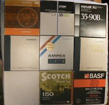 """Reel-To-Reel 7"""" Tape Spools, Lot Of 9), Used,All Boxed and Tidy For Age,Untested"""