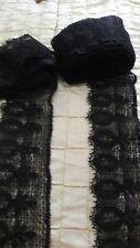 Vintage black lace .lots of it